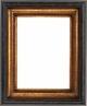 "Picture Frames 12"" x 16"" - Black & Gold Picture Frames - Frame Style #404 - 12 x 16"