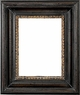 "Picture Frames 12 x 24 - Black & Gold Picture Frames - Frame Style #407 - 12""x24"""