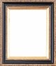 Picture Frames 24 x 36 - Black and Gold Picture Frames - Frame Style #403 - 24 x 36