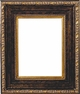 30 X 30 Picture Frames - Gold & Black Picture Frame - Frame Style #368 - 30X30