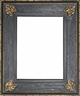 Picture Frames 30x30 - Gold & Black Picture Frame - Frame Style #396 - 30x30