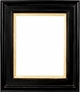 Picture Frames 30x40 - Black & Gold Picture Frame - Frame Style #363 - 30x40