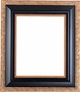 "36"" X 36"" Picture Frames - Black & Gold Picture Frames - Frame Style #362 - 36""X36"""