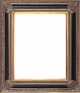 "Picture Frames 36"" x 36"" - Black & Gold Picture Frames - Frame Style #400 - 36 x 36"