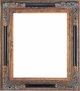 "Picture Frames 36"" x 36"" - Black & Gold Ornate Picture Frame - Frame Style #409 - 36"" x 36"""