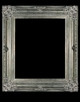 Art - Picture Frames - Oil Paintings & Watercolors - Frame Style #614 - 36x48 - Antique Silver - Ornate Silver Frames