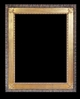 Art - Picture Frames - Oil Paintings & Watercolors - Frame Style #675 - 36x48 - Wood Tone & Gold - Wood & Gold Frames