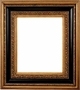 Picture Frames 40x40 - Ornate Black & Gold Picture Frame - Frame Style #394 - 40x40
