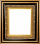 "Picture Frames 48"" x 48"" - Black & Gold Ornate Picture Frame - Frame Style #406 - 48x48"