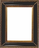 "5""X7"" Picture Frames - Gold & Black Picture Frame - Frame Style #405 - 5"" X 7"""