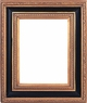 "Picture Frames 8"" x 10"" - Gold and Black Picture Frames - Frame Style #408 - 8 x 10"
