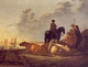 Art - Oil Paintings - Masterpiece #3003 - Aelbert Cuyp - Cattle with Horseman and Peasants - Museum Quality