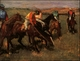 Art - Oil Paintings - Masterpiece #3006 - Edgar Degas - Before the Race - Museum Quality