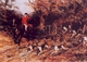 Art - Oil Paintings - Masterpiece #3014 - Heywood Hardy - Calling the Hounds Out of Cover - Gallery Quality