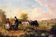 Art - Oil Paintings - Masterpiece #3019 - Julius Caesar Ibbetson - Going to Market - Gallery Quality