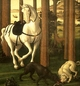 Art - Oil Paintings - Masterpiece #3027 - BOTTICELLI, Sandro - The Story of Nastagio degli Onesti (detail of the second episode) hgf - Gallery Quality