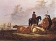 Art - Oil Paintings - Masterpiece #3029 - CUYP, Aelbert - Peasants with Four Cows by the River Merwede dfg - Gallery Quality