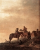 Art - Oil Paintings - Masterpiece #3036 - WOUWERMAN, Philips - Rider's Rest Place q4r - Museum Quality