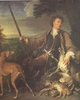 Art - Oil Paintings - Masterpiece #3052 - Francois Desportes - Portrait of the Artist in Hunting Dress (mk05) - Museum Quality