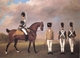 Art - Oil Paintings - Masterpiece #3062 - STUBBS, George - Soldiers of the Tenth Light Dragoons (mk25) - Museum Quality