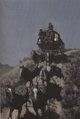 Art - Oil Paintings - Masterpiece #3074 - Frederic Remington - The Old Stage-Coach of the Plains (mk43) - Museum Quality
