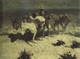 Art - Oil Paintings - Masterpiece #3079 - Frederic Remington - The Desert Prospector (mk43) - Gallery Quality