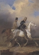 Art - Oil Paintings - Masterpiece #3082 - Franz Kruger - Outing of Prince William of Prussia on Horse Back,Accompanied by the Artist (mk45) - Gallery Quality