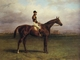 Art - Oil Paintings - Masterpiece #3087 - Harry Hall - Mr.R.N.Blatt's 'Thorn' With Busby Up on york Bacecourse - Gallery Quality