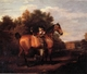 Art - Oil Paintings - Masterpiece #3090 - Henry Walton - A Gentleman,Said to Be mr Richard Bendyshe with his Favorite Hunter in a Landscape - Gallery Quality