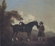 Art - Oil Paintings - Masterpiece #3100 - Thomas Gooch - A Child on A Hunter Held by a Groom and Tow Terriers in a Landscape - Museum Quality
