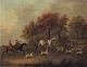Art - Oil Paintings - Masterpiece #3102 - John Nost Sartorius - Entering The Woods,A Hunt - Gallery Quality