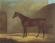Art - Oil Paintings - Masterpiece #3117 - John Boultbee - A Chestnut Hunter With A Groom By a Building - Museum Quality