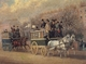 Art - Oil Paintings - Masterpiece #3130 - Pollard, James - A Street Scene with Two Omnibuses - Gallery Quality