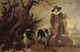 Art - Oil Paintings - Masterpiece #3133 - WILDENS, Jan - A Hunter with Dogs Against a Landscape - Gallery Quality