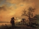 Art - Oil Paintings - Masterpiece #3134 - Philips Wouwerman - Horses Being Watered - Gallery Quality