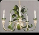 Jeanne Reed's - Italian Chandelier - (metal - green leaf)