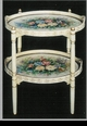 Jeanne Reed's - Double Tray Table - wood - ivory