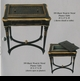 "Jeanne Reed's - ""Planter"" Table, black w/brass trim"