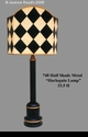 """Jeanne Reed's - 1/2 Shade Lamp """"harlequin"""""""