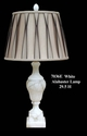 Jeanne Reed's - Alabaster Lamp - white