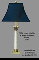 Jeanne Reed's - Marble Column Lamp - Ivory