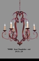 Jeanne Reed's - Iron Chandelier - red
