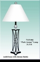 """Jeanne Reed's - """"Park Avenue"""" Lamp/white shade"""