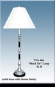 """Jeanne Reed's - """"Black Tie"""" Lamp/white shade"""
