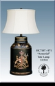 """Jeanne Reed's - """"Amorial"""" Tole Lamp"""