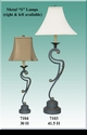 """Jeanne Reed's - Metal """"S"""" Lamp - small"""