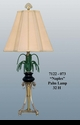 """Jeanne Reed's - """"Naples"""" Brass Marble Lamp"""