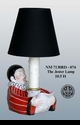 """Jeanne Reed's - """"The Jester"""" Lamp - Red"""