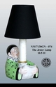 """Jeanne Reed's - """"The Jester"""" Lamp - Green"""