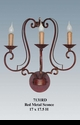 Jeanne Reed's - Iron Sconce - Red